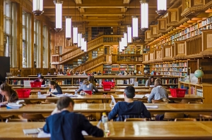 Inside the library of the university of Leuven, Belgium
